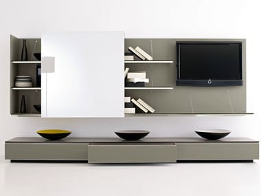 Sectional TV wall system PAB | Storage wall