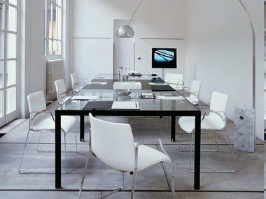 Modular glass meeting table PROGETTO 1 | Meeting table