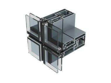 Sistema per facciata continua in alluminio AW86S