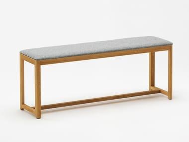 Upholstered beech bench SELERI | Upholstered bench