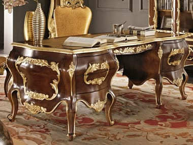 escritorio de madera maciza con cajones escritorio