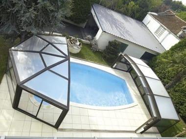 High telescopic Swimming pool cover DESJOYAUX | High Swimming pool cover