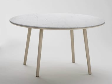 Round Carrara marble Tables Archiproducts