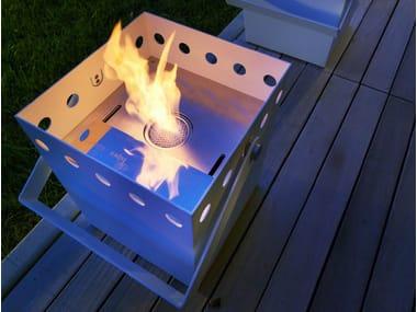 Caminetto da esterno in metallo a bioetanolo SECCHIELLO
