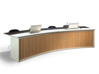 Mesa de reunión modular de madera DEMIMUR