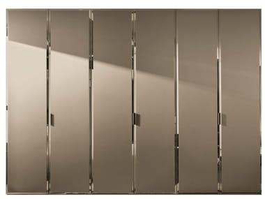 Etched glass wardrobe with 1 door custom BRILLANTA | Etched glass wardrobe