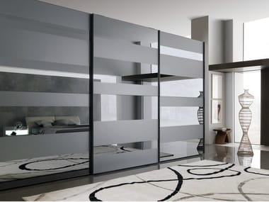 Mirrored glass wardrobe with sliding doors SEGMENTA NEW | Mirrored glass wardrobe