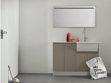 Idrobox waschk che schrank aus ulme by birex - Waschkuche mobel ...