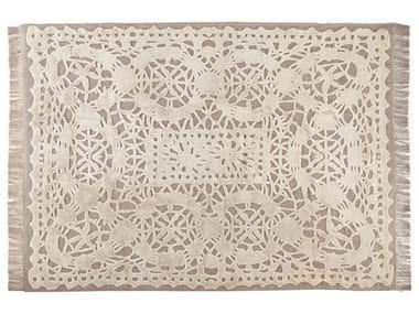 Patterned rectangular rug DENTELLE