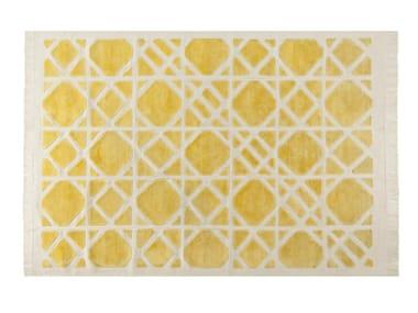 Patterned rectangular rug CANNAGE