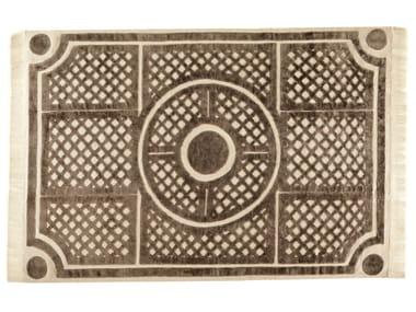 Patterned rectangular rug JARDIN A LA FRANCAISE