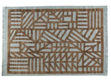 Patterned rectangular rug INDUSTRIEL