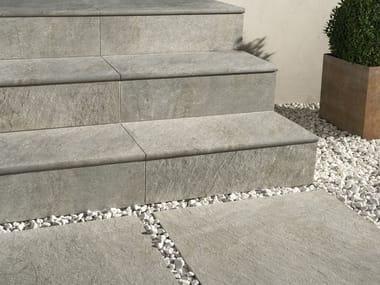 Porcelain stoneware outdoor floor tiles DUAL STEP