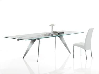 Tavoli in acciaio inox e cristallo archiproducts for Tavoli in cristallo e acciaio