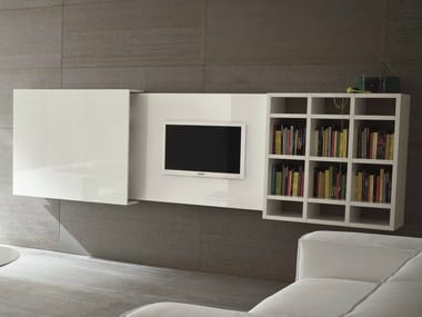 Wall-mounted retractable TV cabinet SLIM 10