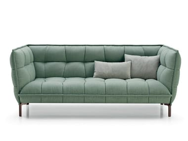 Tufted fabric sofa HUSK SOFA