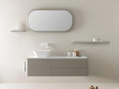 Mueble bajo lavabo simple suspendido FLUENT | Mueble bajo lavabo