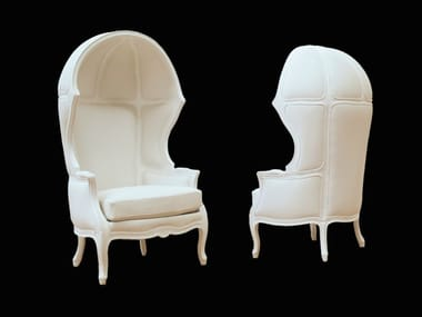 High-back garden armchair with armrests 658B NAKED ENRICO | Polyurethane armchair
