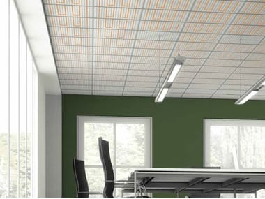 Panneaux rayonnants de plafond chauffage rayonnant sols et murs archiprod - Panneaux rayonnants plafond ...
