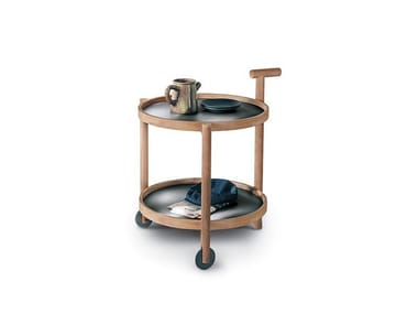 Stainless steel and wood drinks trolley CADDY | Drinks trolley