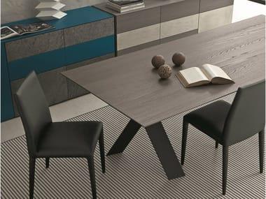 Extending rectangular oak table TAILOR | Oak table
