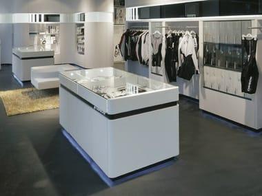 Arredo per negozi in Solid Surface® HANEX®   Arredo per negozi