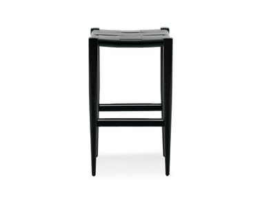 High leather stool VINCENT V. G. | High stool