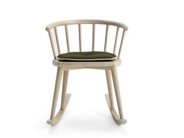Rocking beech chair with armrests W. | Rocking chair