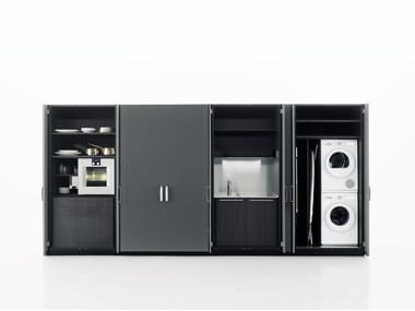 Cucina / mobile lavanderia in legno HIDE