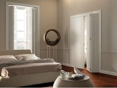 Porta dobrável lacada de madeira maciça MIRAQUADRA | Porta dobrável
