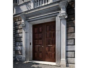 Porta d'ingresso blindata in castagno SOVRANA | Porta d'ingresso