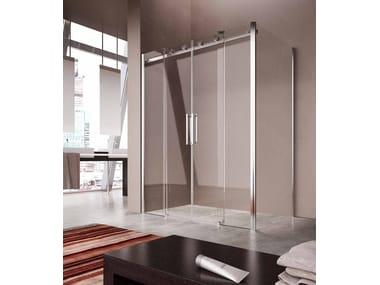 Cabina de ducha de esquina con puertas correderas FLUIDA FT+FP