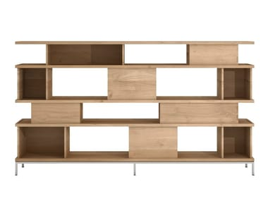 Open double-sided solid wood bookcase OAK LIGNA   Bookcase
