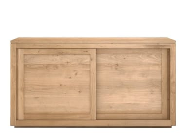Solid wood sideboard with sliding doors OAK PURE | Sideboard