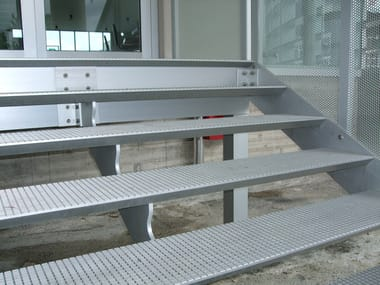 Met fire escape stairs ALUPLANA | Fire escape staircase