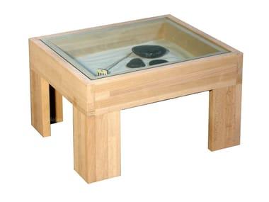 mesita de noche rectangular de madera zen mesita de noche