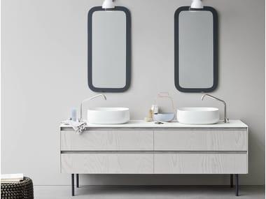 Mobile lavabo doppio con cassetti MOODE | Mobile lavabo doppio