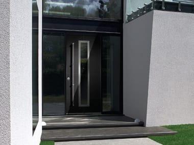 Porta d'ingresso blindata con pannelli in vetro FRAME