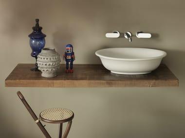 Solid wood washbasin countertop SOLID | Solid wood washbasin countertop