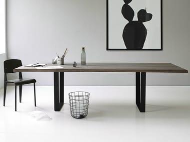 Tavolo allungabile rettangolare in rovere LOWLIGHT TABLE