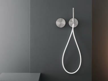 Dual lever wall mounted mixer with hand shower CIR 04