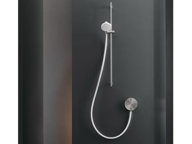 Dual lever wall mounted mixer with hand shower CIR 08