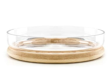 Wood and glass bowl HOOP