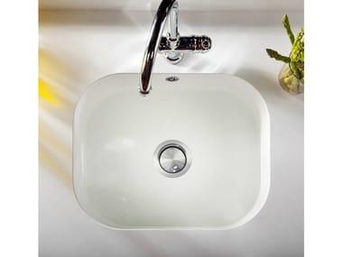 Lavello a una vasca sottotop in Silestone® INTEGRITY ONE