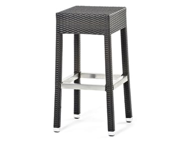 High stool with synthetic fiber weaving LOTUS | Stool