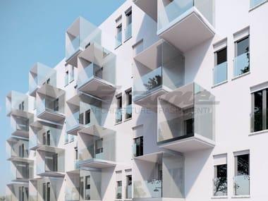 Glass and aluminium Window railing NINFA 190