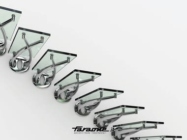 Glass and Stainless Steel cantilevered staircase TWIN