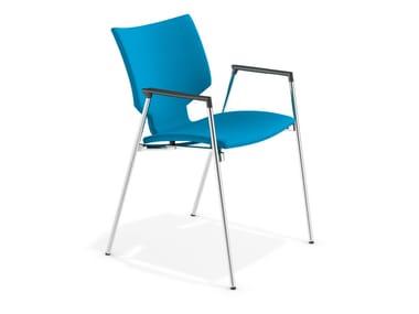 Sedia in tessuto con braccioli LYNX I | Sedia con braccioli