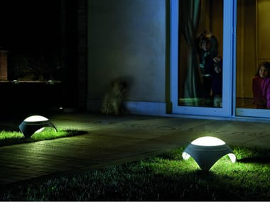 Menhir lampada in pietra da terra per esterni collezione nur