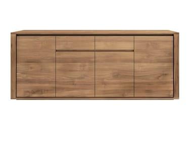 Teak sideboard with doors TEAK ELEMENTAL | Sideboard